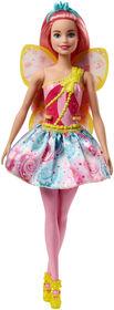 Barbie - Dreamtopia - Poupée Fée - Rose.