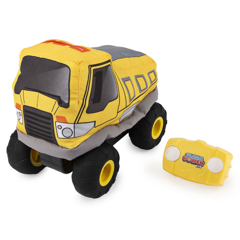 Plush Power RC, Remote Control Dump Truck with Soft Body and 2-Way Steering