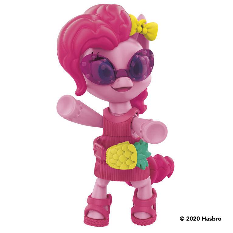 My Little Pony Surprise éclatante, 2 figurines articulées : Pinkie Pie et DJ Pon-3