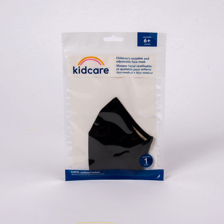 kidcare - Cloth Face Mask Youth 1-pack - Black