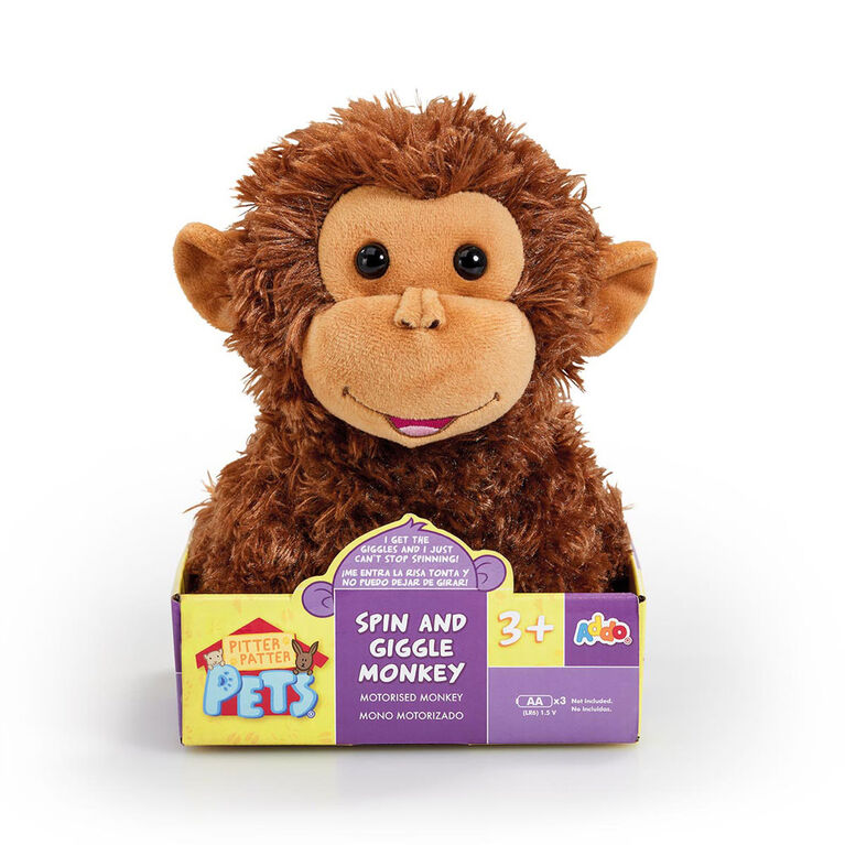 Pitter Patter Pets - Singe ricanant Spin and Giggle - Notre exclusivité