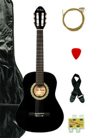 Bridgecraft De Rosa Junior Beginner Guitar with Accessories - Black