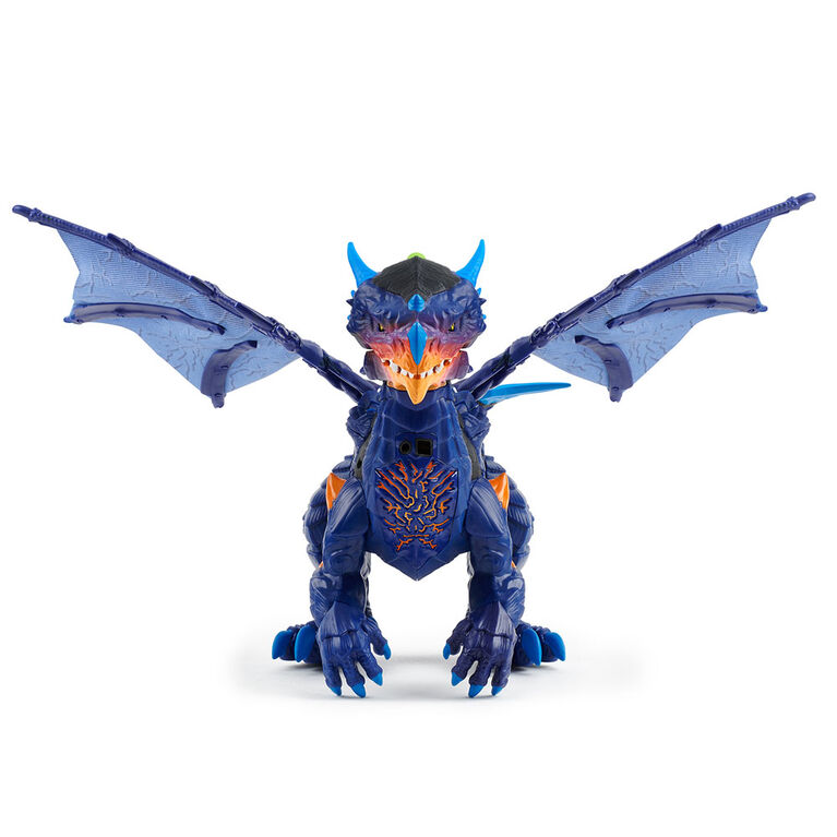 Untamed Legends Dragon - Vulcan (Dark Blue) - Interactive Toy <br>