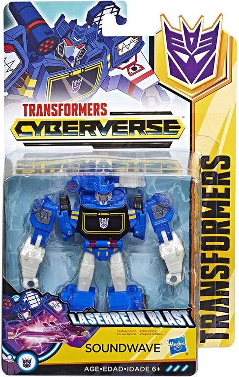 Transformers Cyberverse Action Attackers - Figurine Soundwave de classe guerrier