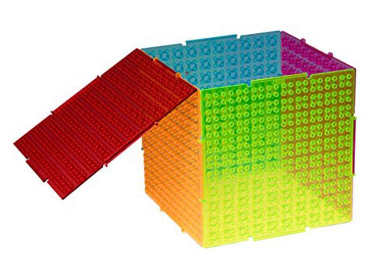 Strictly Briks - Big Briks - Starter Set - 11 Baseplates & 108 Briks - Blue, Green, Red, Yellow