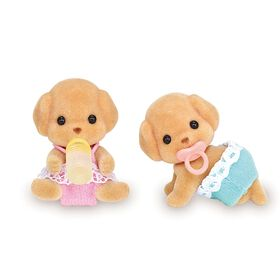 Calico Critters - Jouet Jumeaux caniches.