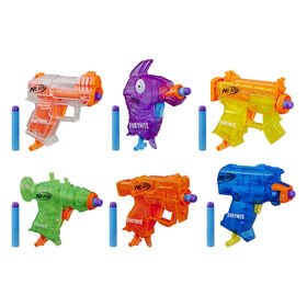 Nerf Fortnite Micro Ice Storm Collection -- Includes 6 Blasters and 12 Official Nerf Elite Darts