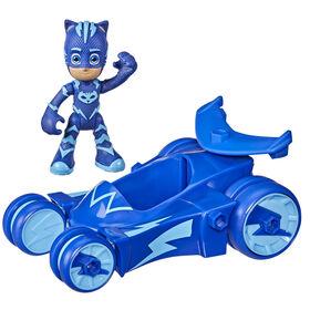 Pyjamasques, jouet préscolaire Chat-Bolide, voiture de Yoyo avec figurine Yoyo