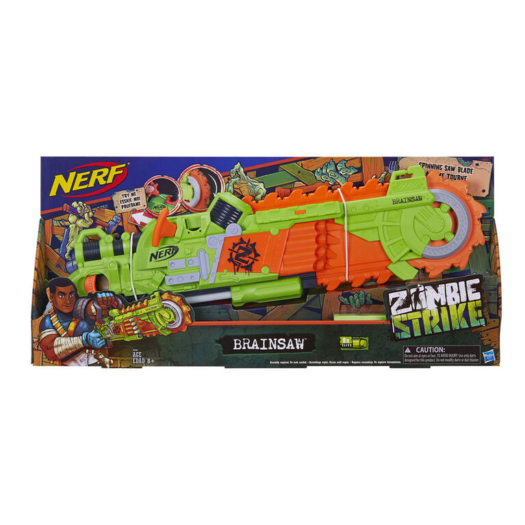 Nerf Zombie Strike - Foudroyeur Brainsaw - Notre exclusivité