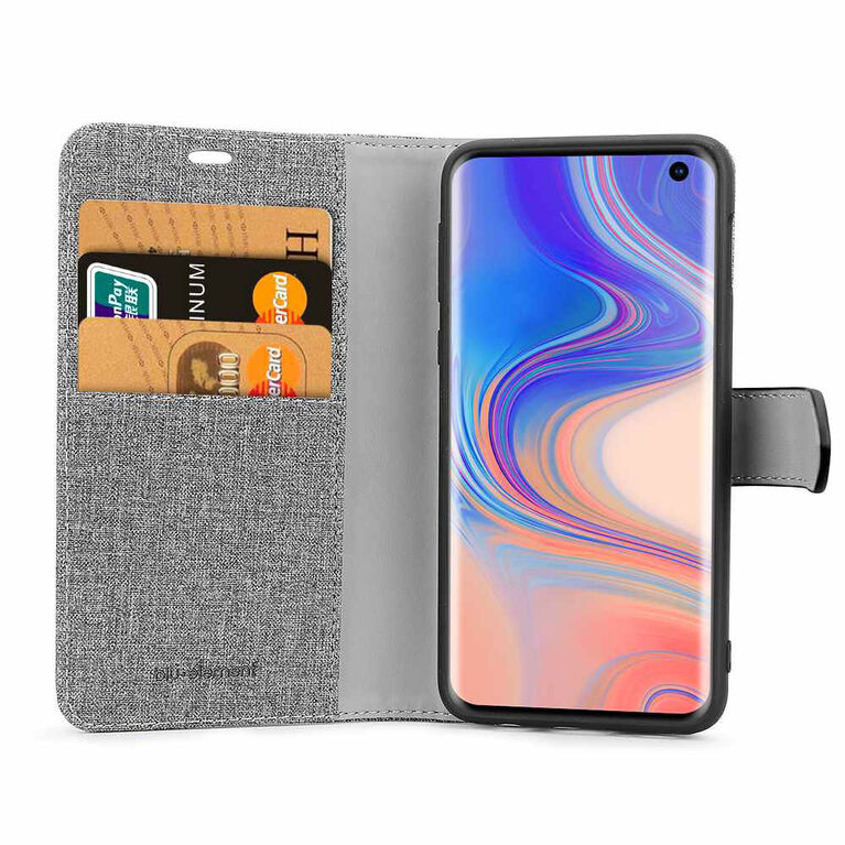 Blu Element 2 in 1 Folio Galaxy S10+ Gray/Black