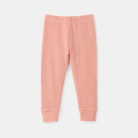 ribbed hacci legging , size 4-5y - Pink