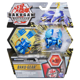 Bakugan Ultra, Hydorous avec équipement Baku-Gear transformable, Figurine Armored Alliance articulée de 7,5cm à collectionner