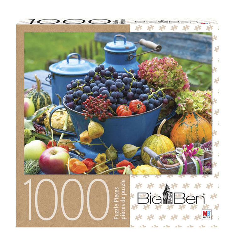 Big Ben - 1000-Piece Adult Jigsaw Puzzle - Colorful Harvest Time