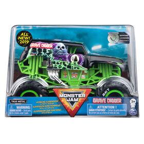 Monster Jam, Monster truck authentique Grave Digger en métal moulé à l'échelle 1:24