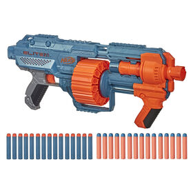 Nerf Elite 2.0 Shockwave RD-15 Blaster, 30 Nerf Darts, 15-Dart Rotating Drum, Pump-Action Slam Fire
