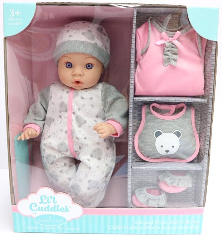 """6 pc Set Pour 2 Baby Dolls Jusqu/'à 18/"""" All in One Twin Jouer Centre Enfants Jouet Cadeau"""