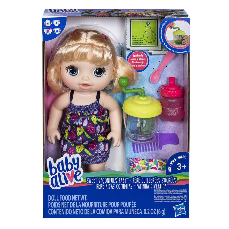 Baby Alive Sweet Spoonfuls Baby Doll Girl