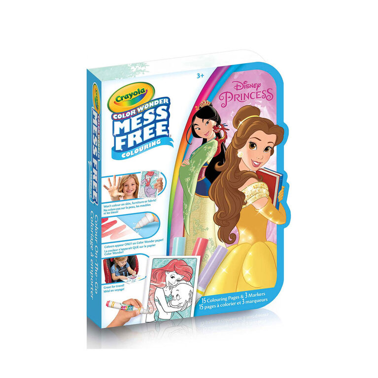 Crayola Color Wonder Mini Mess-Free Colour On-The-Go Disney Princess