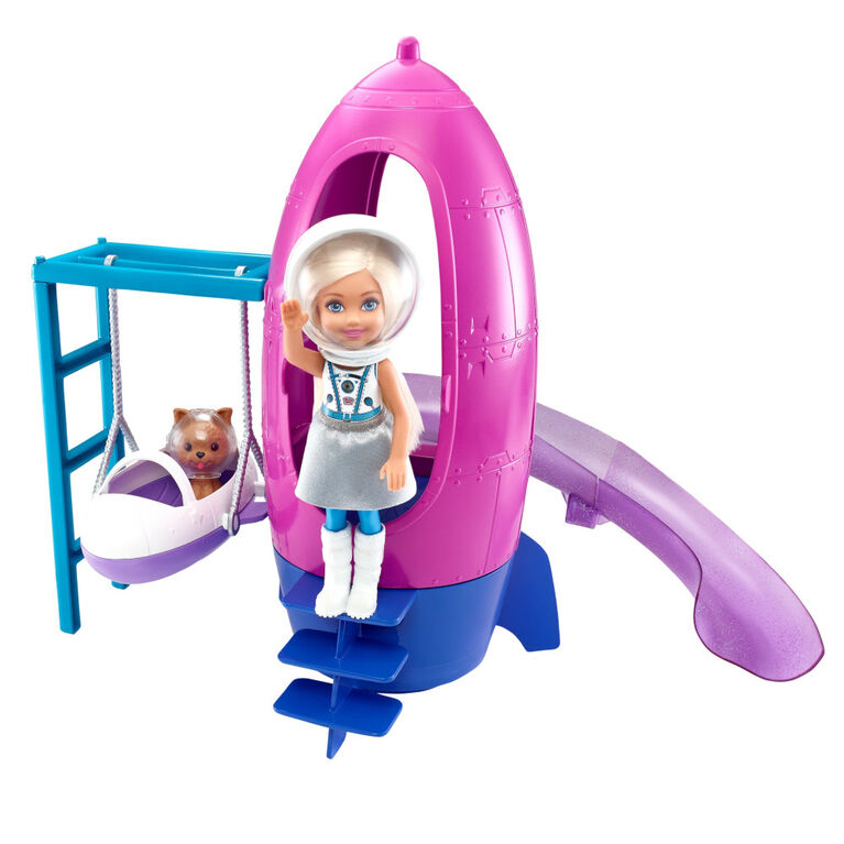 Barbie Space Discovery Chelsea Doll and Rocket Ship - Themed Playset with Puppy