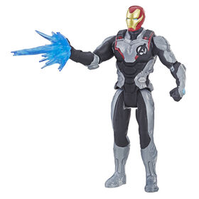 Marvel Avengers : Phase finale - Figurine Iron Man de 15 cm avec costume d'équipe.