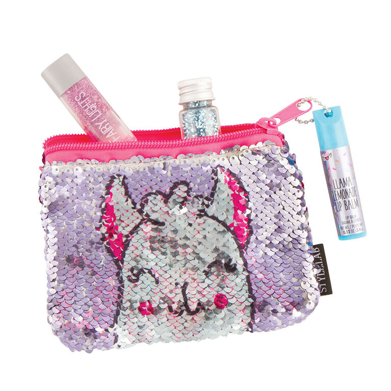 Fashion Angels - Magic Sequin Pouch with Lip Balm - Llama