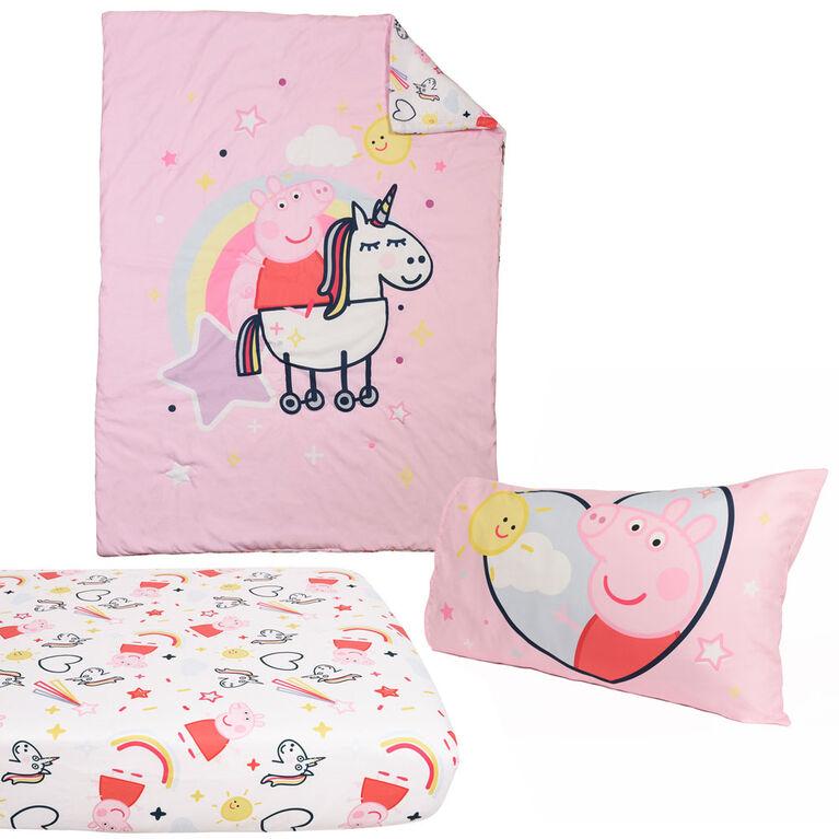Peppa Pig 3-Piece Toddler Bedding Set