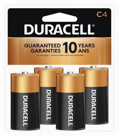 Piles Duracell coppertop Alcalines C - 4 unités