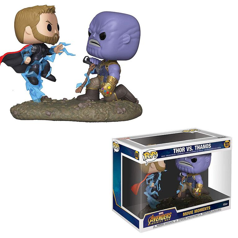 Funko POP! Movie Moments: Marvel - Avengers Infinity War Thor Vs. Thanos Vinyl Figure