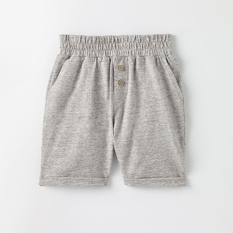 12-18m short de fin de semaine - gris texturé