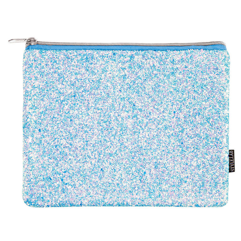 Fashion Angels - S.Lab Chunky Glitter Pouch - Ice Blue