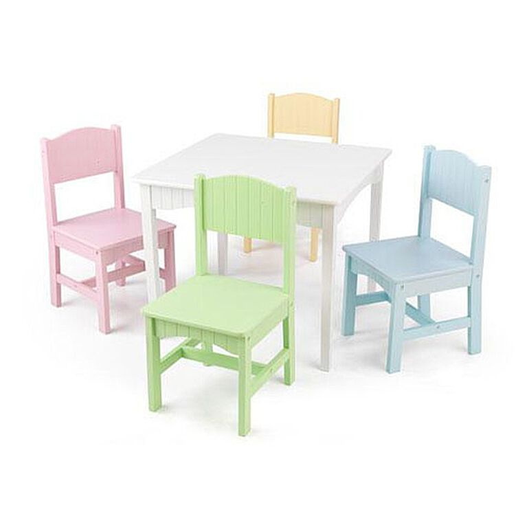 KidKraft - Table et 4 chaises pastel Nantucket