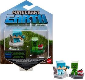 Minecraft Earth Boost Minis Defending Alex & Mining Creeper Figures