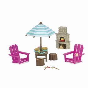 Ensemble De Patio, Li'l Woodzeez, Ensemble de mobilier d'extérieur avec foyer