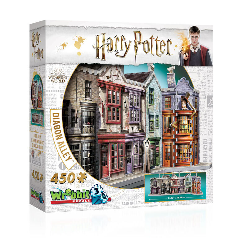 Harry Potter - WREBBIT 3D Jigsaw - Diagon Alley - 450 Pieces