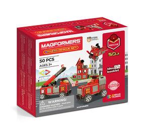 Coffret de construction Magformers Amaz!ng Rescue de 50 pièces