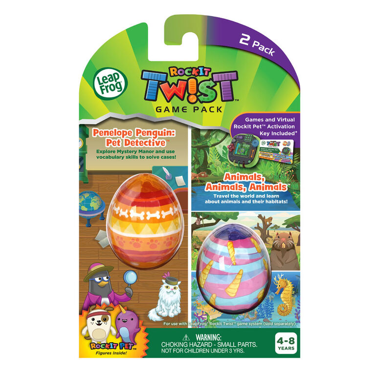 LeapFrog RockIt Twist 2 Pack: Penelope Penguin: Pet Detective and Animals, Animals, Animals - English Edition