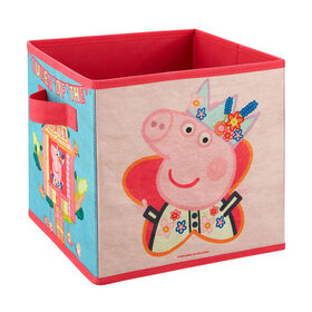 Peppa Pig 9 Inch Soft Storage Bin - Queen Peppa