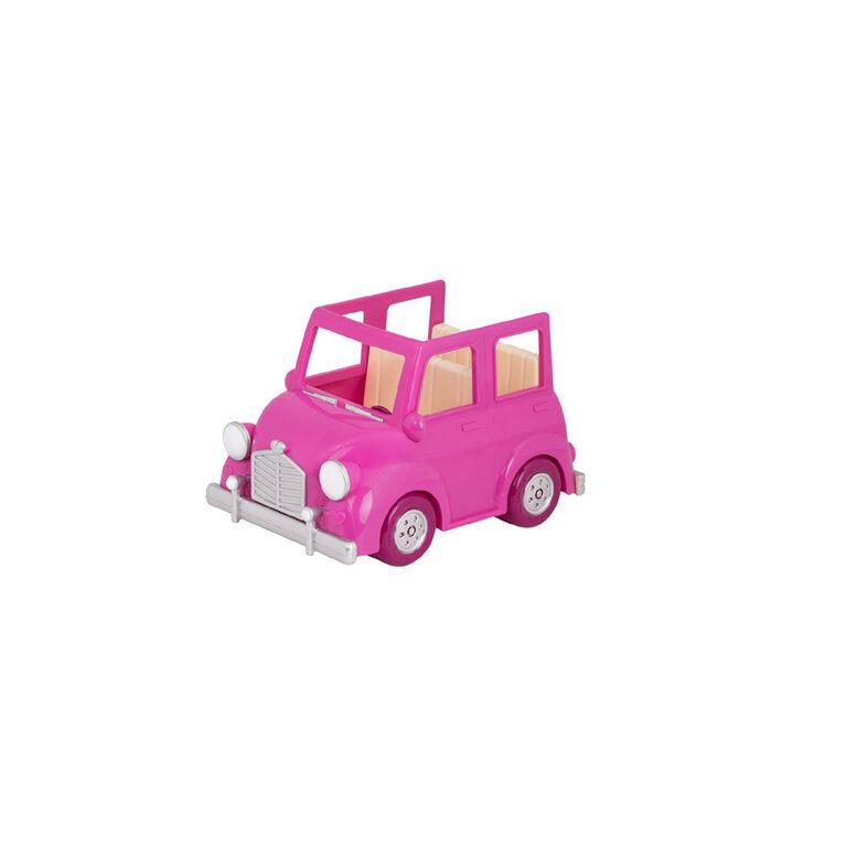 Happy Camper, Li'l Woodzeez, Caravane rose avec accessoires