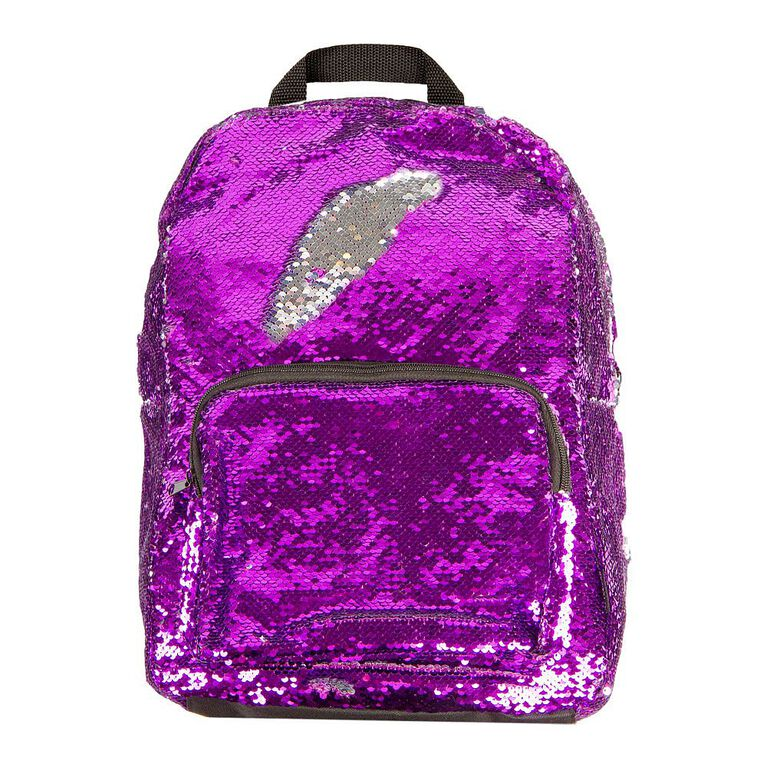 Magic Sequin Purple and Silver Backpack