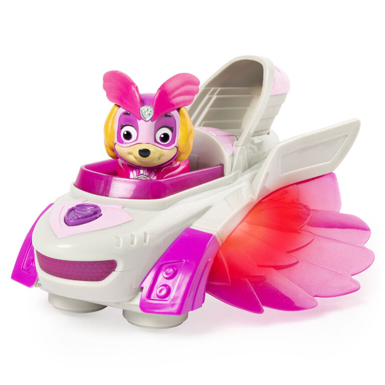 PAW Patrol, Mighty Pups Charged Up Skye's Deluxe Vehicle with Lights and Sounds