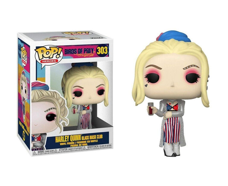 Figurine en Vinyle Harley Quinn Black Mask Club par Funko POP! Birds of Prey