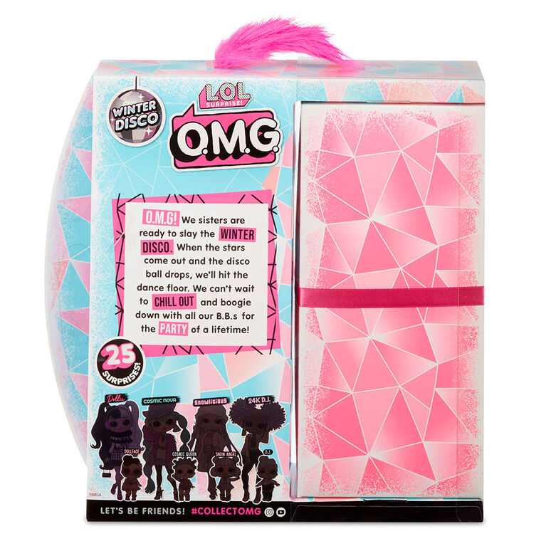 L.O.L. Surprise! O.M.G. Winter Disco Dollie Fashion Doll & Sister - English Edition