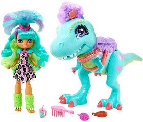 Cave Club Rockelle & Tyrasaurus Doll & Figure