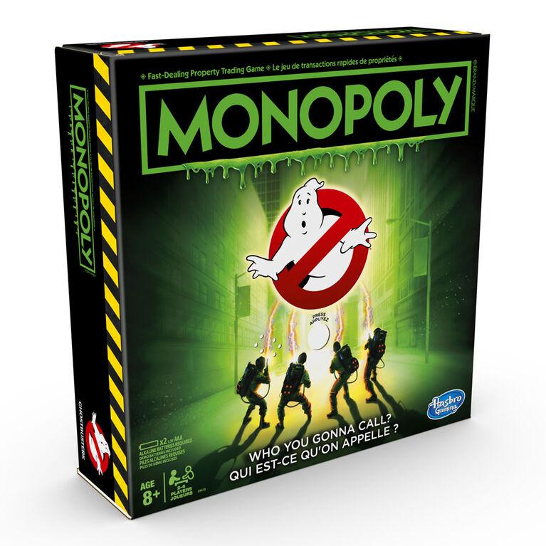 Monopoly: édition Ghostbusters S.O.S Fantômes - Édition anglaise - les motifs peuvent varier