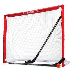 LNH - Ensemble de balle, 2 bâtons et but en PVC de compétition de 1,17 m (46 po)