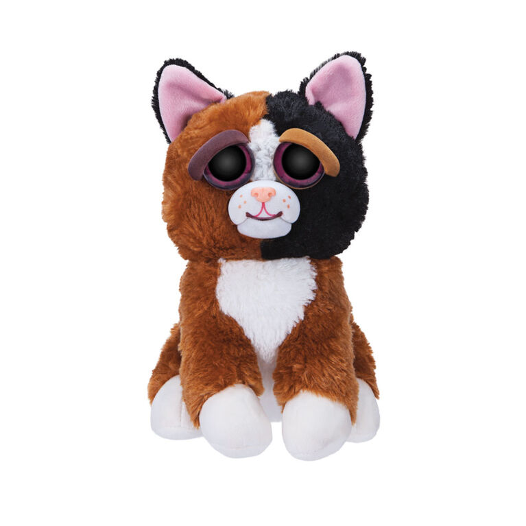 """Feisty Pets 10 """"Plush - Chat Mary Monstertruck Calico."""