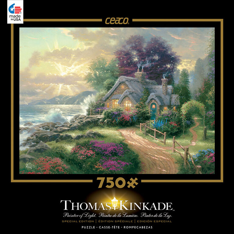 Thomas Kinkade 750 Piece Puzzle - A New Day Dawning