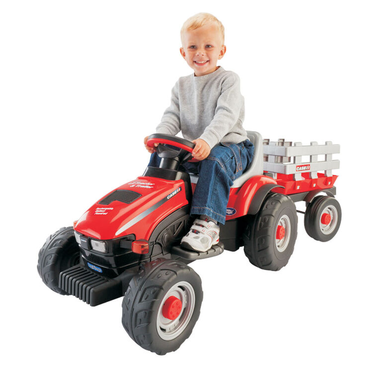 Peg Perego - Case IH Lil Tractor Ride-On with Trailer - Red