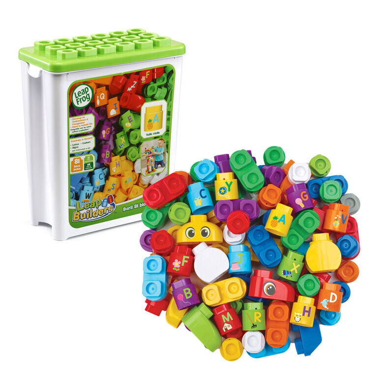 LeapFrog LeapBuilders 81-Piece Jumbo Blocks Box - French Edition