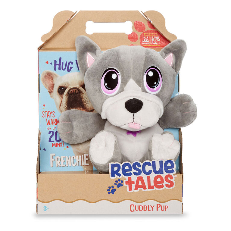 Rescue Tales Cuddly Pup Frenchie Soft Plush Pet Toy - English Edition